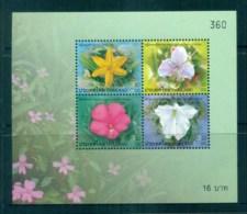 Thailand 2006 New Year Flowers MS MUH Lot82127 - Thailand