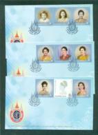 Thailand 2012 Queen Sirikit's 80th Birthday 3x FDC Lot62124 - Thailand