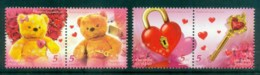 Thailand 2012 With Love, Hearts, Bears Pairs MUH Lot82084 - Thailand