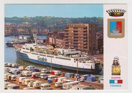 [611] DIEPPE. Port, Camping, Ferry SEALINK.- Puertos, Porti, Häfen. Ferries, Traghetti. Barcos, Ships. Navi, Schiffe. - Dieppe