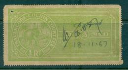 Travancore Cochin State 1900s Court Fee Ty.? 8a Green Lot36766 - Unclassified