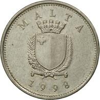 Monnaie, Malte, 10 Cents, 1998, British Royal Mint, TTB, Copper-nickel, KM:96 - Malte