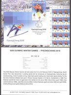 Olympic Estonia 2018 Stamp  Winter Olympic Games In PyeongChang Presentation Card (engl) Mi 911 - Winter 2018: Pyeongchang