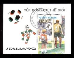 Vietnam 1990 World Cup Soccer Italy MS CTO - Viêt-Nam