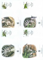 Vietnam 2005 WWF Owston's Banded Civet 4xFDC Lot77044 - Vietnam