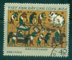 Vietnam North 1972 40xu Folk Engravings From Dong FU Lot33885 - Vietnam