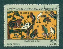 Vietnam North 1972 50xu Folk Engravings From Dong FU Lot33886 - Vietnam