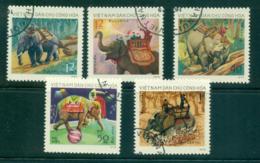 Vietnam North 1974 Elephants FU Lot33834 - Vietnam