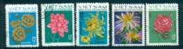 Vietnam North 1974 Flowers (5/6)FU Lot33859 - Vietnam