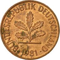 Monnaie, République Fédérale Allemande, 2 Pfennig, 1981, Karlsruhe, TB+ - [ 7] 1949-… : FRG - Fed. Rep. Germany