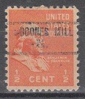 USA Precancel Vorausentwertung Preo, Locals Virginia, Boone Mill 734 - Vereinigte Staaten
