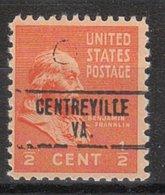 USA Precancel Vorausentwertung Preo, Locals Virginia, Centreville 748 - Vereinigte Staaten