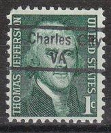 USA Precancel Vorausentwertung Preo, Locals Virginia, Charles City 843 - Vereinigte Staaten