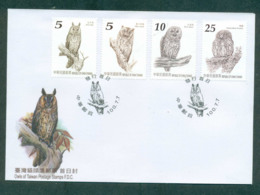 China ROC Taiwan 2011 Owls FDC Lot62136 - Andere