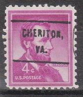 USA Precancel Vorausentwertung Preo, Locals Virginia, Cheriton L-1 HS, 10 $ Type - Vereinigte Staaten