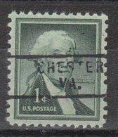 USA Precancel Vorausentwertung Preo, Locals Virginia, Chester 729 - Vereinigte Staaten