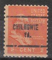USA Precancel Vorausentwertung Preo, Locals Virginia, Chilhowe 704 - Vereinigte Staaten
