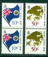 Hong Kong 1987 Coil Pairs MUH Lot18771 - Hong Kong (1997-...)
