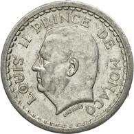Monnaie, Monaco, Louis II, Franc, Undated (1943), Poissy, TTB, Aluminium, KM:120 - Monaco