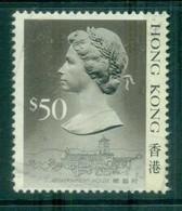 Hong Kong 1988 QEII Defins TyII $50 FU Lot78339 - Hong Kong (1997-...)