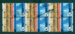 Hong Kong 2002 $5 Tiled Roof, Glass Wall Blk 6 FU Lot46224 - Hong Kong (1997-...)