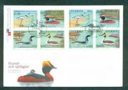 Hong Kong 2004 Waterbirds Joint Issue Sweden FDC Lot51676 - Hong Kong (1997-...)