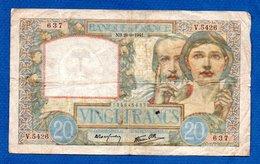 20 Francs Science Et Travail  /  28-1-41 /  TB - 1871-1952 Anciens Francs Circulés Au XXème