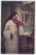 Spectacle // Musique // Carte Fantaisie // Musicienne Avec Son Violon - Musique Et Musiciens