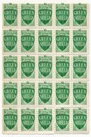 "GRANDE-BRETAGNE - 45 Vignettes ""Green Shield 198"" (deux Blocs 20 Et 25 Timbres) Neufs état Moyen - Old Paper"
