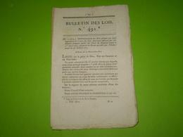 Lois 1821: Réorganisation Du Corps De Sapeurs Pompiers De Paris.Hautussac De St Laurent Du Pape.Remplacement Militaire - Decrees & Laws