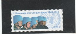 FRANCE 2018 HOMMAGE AUX CASQUES BLEUS NEUF YT 5220 - Unused Stamps
