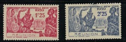 REUNION        N°  YVERT    156/157    NEUF SANS GOMME       ( SG   1/10 ) - Neufs
