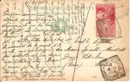 (St.Post.).Regno.V.E.III.1911.-10 (+5)c Rosso Isolato Su Cartolina.Illustratore Crema (36-17) - 1900-44 Victor Emmanuel III
