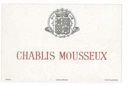 ETIQUETTE VIN BOURGOGNE CHABLIS MOUSSEUX - Bourgogne