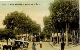 06 VENCE - Place Nationale - Avenue De La Gare - Couleur Toilée - Très Animée : Marchand Ambulant Sa Boutique Attelée - Vence