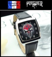 Montre à Quartz NEUVE Bracelet Cuir ! ( Watch ) - The Punisher ( Ref 2 ) - Watches: Modern