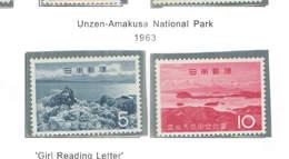 Giappone PO 1963 Unzen Nat.Park Scott.777/778+See Scan On Scott.Page - 1926-89 Imperatore Hirohito (Periodo Showa)