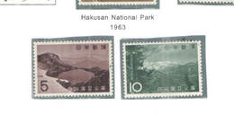Giappone PO 1963 Hakusan Nat.Park Scott.779+780+See Scan On Scott.Page - 1926-89 Imperatore Hirohito (Periodo Showa)
