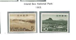 Giappone PO 1963 Sea Nat.Park    Scott.795+796+See Scan On Scott.Page - 1926-89 Imperatore Hirohito (Periodo Showa)