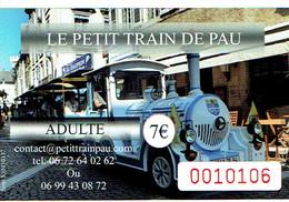 Ticket Du Petit Train De Pau - Chemins De Fer