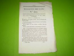 Lois 1821:Ordonnance Du Roi Relative à L' Horlogerie Pour Les Montres En Or & En Argent - Décrets & Lois