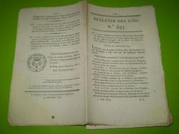 Lois 1821:Routes Départementales D'Ardèche,du Gard. Mode D'exploitation Du Minerai De Fer De La Loire . Legs ... - Décrets & Lois