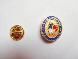 Beau Pin's , Tir , FFT , Fédération Française De Tir , Coq - Badges