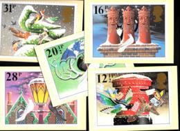 [MD2261] CPM - SERIE DI 5 CARTOLINE - RIPRODUZIONE DI FRANCOBOLLI - CHRISTMAS 1983 - NV - Briefmarken (Abbildungen)