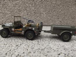 Jeep Willys Et Sa Remorque - Solido