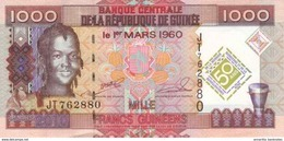 GUINÉE 1000 FRANCS 2010 P-43 NEUF COMMÉMORATIF [GN333a] - Guinée