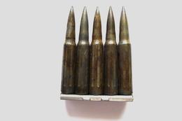 LAME CHARGEUR AVEC 5 CARTOUCHES DE MANIPULATION MLE 1929 C 1er TYPE - Decorative Weapons