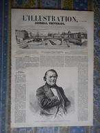 L ILLUSTRATION 26/06/1858 PARIS CHAMPS ELYSEES JARDIN VALREAS FREGATE ISLY PERSE DANS ALMEES BORDEAUX PONDICHERY VESINET - Journaux - Quotidiens