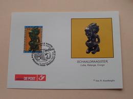 SCHAALDRAAGSTER Luba, Katanga, CONGO De Magie Van De TAMTAM ( BRUSSEL 5-10-1997 : Zie/voir Photo ) ! - FDC