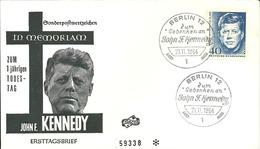 FDC Ersttagsbrief Berlin MiNr. 241 Kennedy Stempel Berlin 21.11.1964 - [5] Berlin